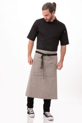 REVF24BLK0 Chef Works Black Reversible Three Pocket Apron