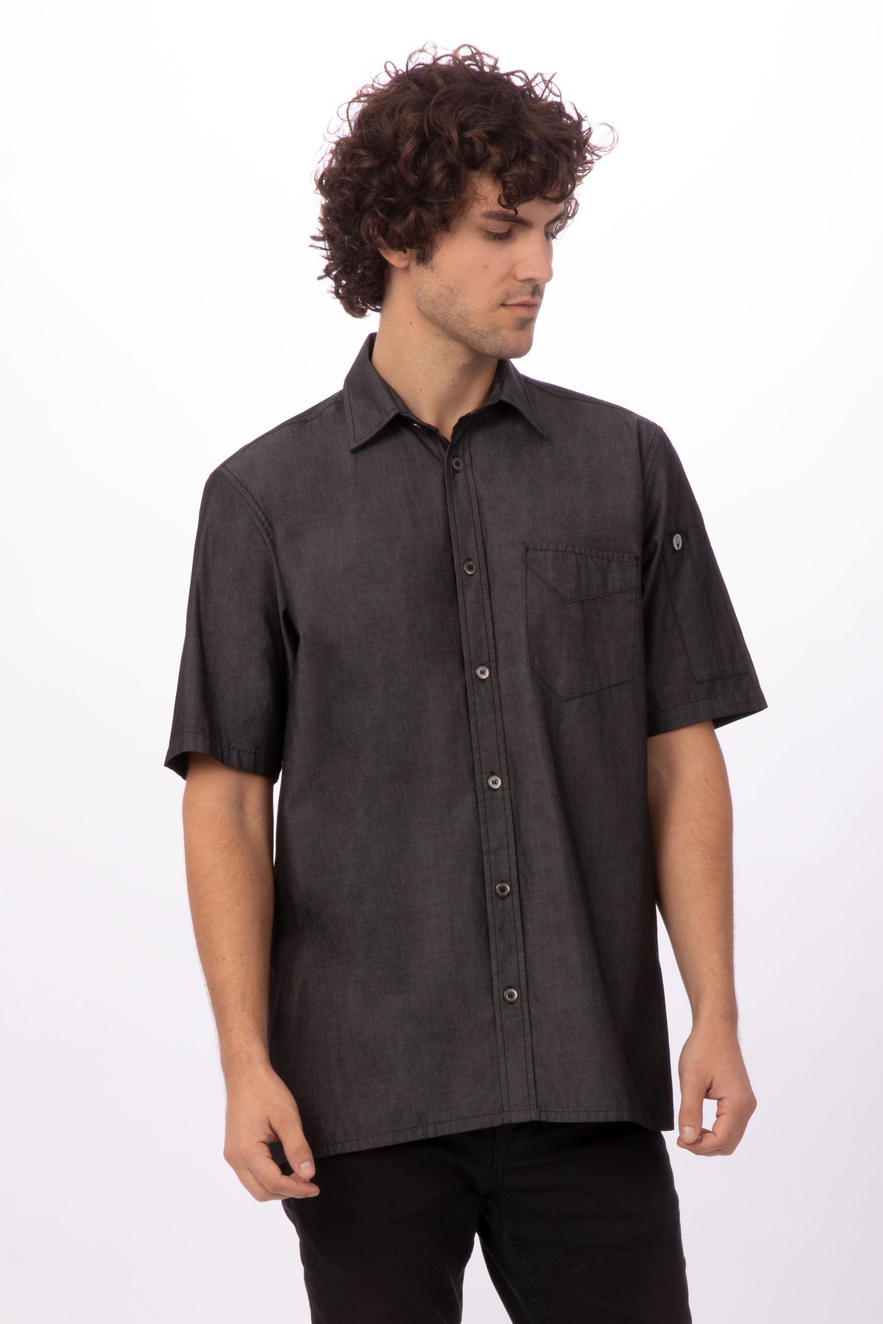 Detroit Short Sleeve Denim Shirt