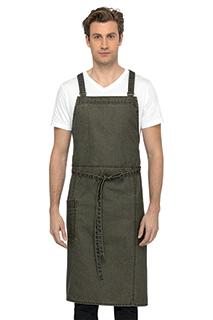 Denver Chef's Cross-Back Bib Apron - side view
