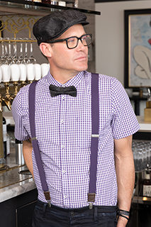 Gingham Mens Short-sleeve Shirt - side view