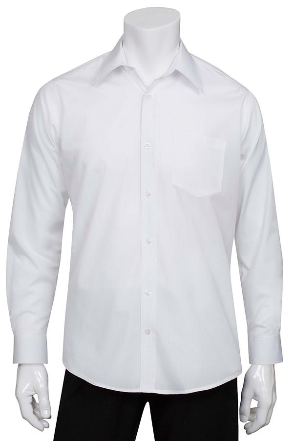28f31c5bc5ef Mens White Essential Dress Shirt - back view