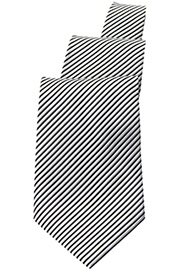 Silver/Black Striped Tie