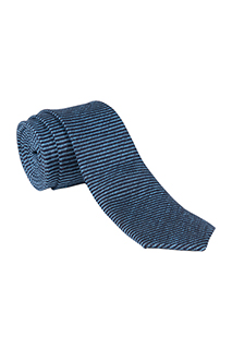 Neck Tie: Striped - side view