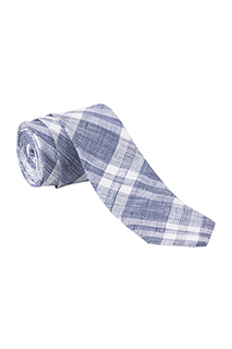 Neck Tie: Plaid - side view