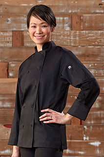 Sofia Womens Chef Coat - side view