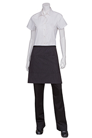 Wide Half Bistro Apron with Contrasting Ties