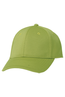 Cool Vent Color Baseball Cap: Lime - side view