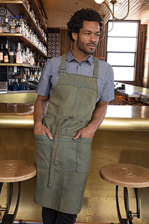 Uptown Cross-Back Bib Apron - side view