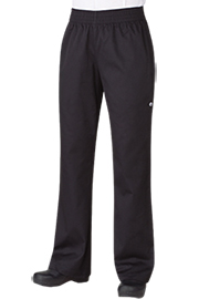 Chef Pants and Chefs Trousers PW005BLK