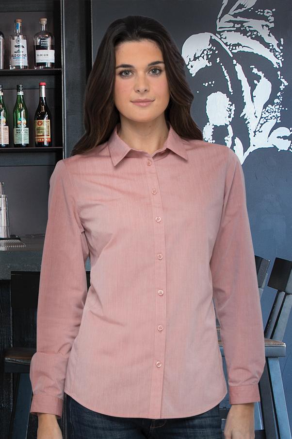 62f8b1b69 Modern Chambray Womens Dress Shirt | ChefWorks.com