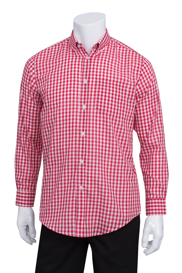 Red Gingham Mens Shirt