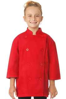 Kids Red Chef Coat - side view