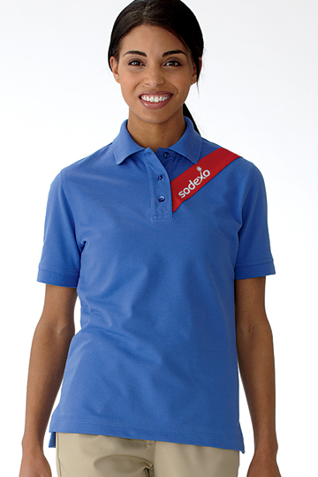 Sodexo Womens Short Sleeved Polo Shirt Chef Works