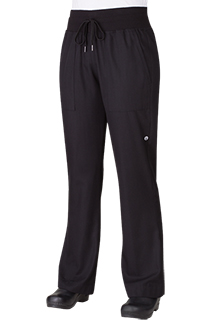 Womens Comfi Pants: Black - side view