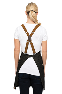 Berkeley Apron Suspenders: Solid Color - side view