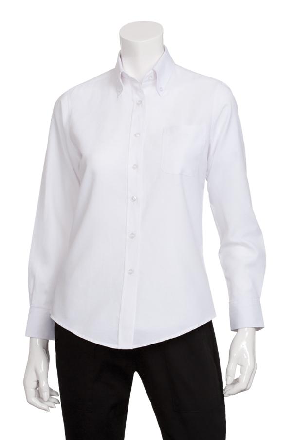 32757449 Womens White Oxford Shirt | ChefWorks.com