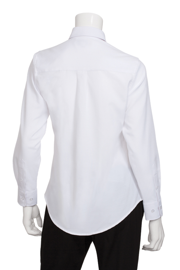 Womens white oxford shirt chef works for White oxford shirt women