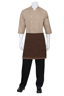 Soho Contrast Half Bistro Apron: Chocolate/Cub - side view