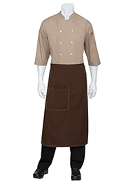 Soho Wide Bistro Apron: Chocolate