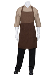 Soho Contrast Bib Apron - side view