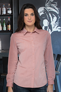 Modern Chambray Womens Dress Shirt - side view