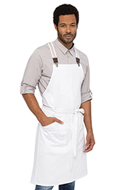 Berkeley Bib Apron: White