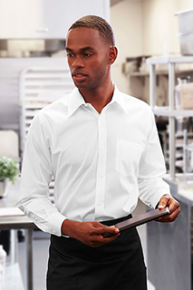 Mens White Essential Dress Shirt - side view
