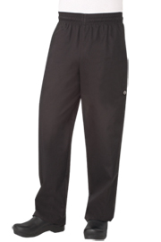 Designer Baggy Black Chef pants - Chef Works Designer Baggy Chef Pants Collection`
