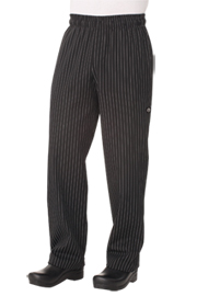 Designer Baggy Pin Striped Chef pants - Chef Works Designer Baggy Pant Collection