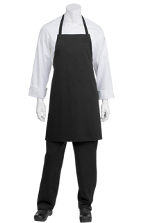 Bib Apron: Black - side view