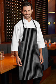 Bib Striped Black Chef Aprons - Chef Works Chef Aprons Collection