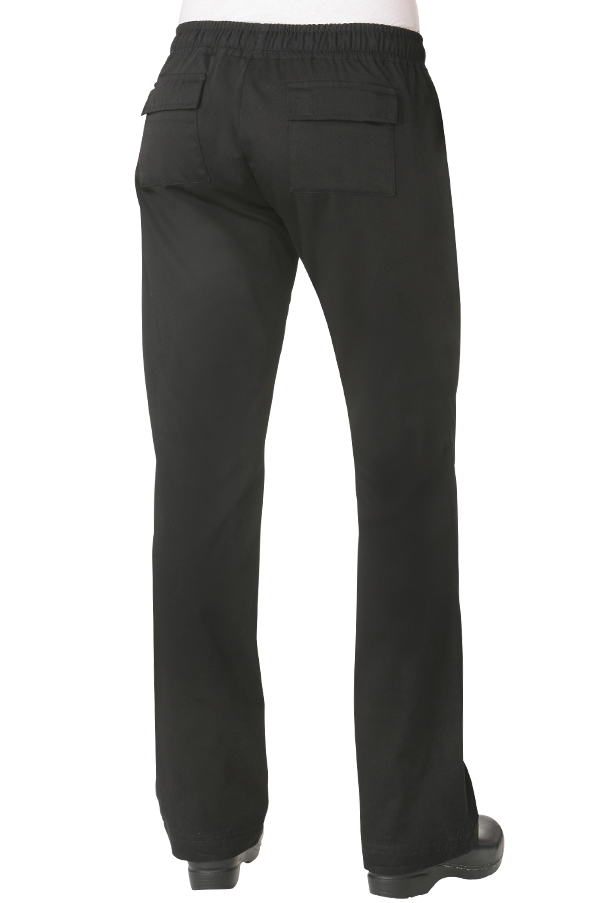 Black Womens Chef Pants [WBLK]