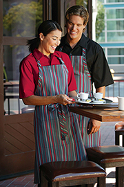 Chef Works Striped Bib Aprons - Chef Works Chef Aprons Collection