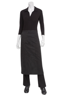 Striped Bistro Aprons - side view
