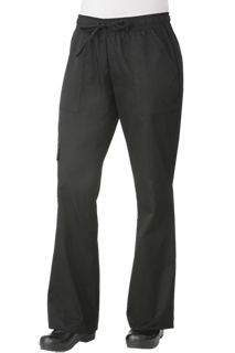 Womens Cargo Pants: Black - side view