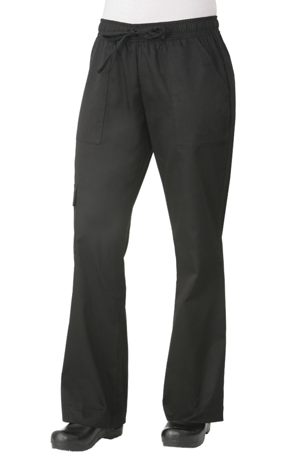 Womens Cargo Pants Black Chef Works
