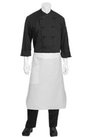 Tapered White Chef Aprons - Chef Works Chef Aprons Collection
