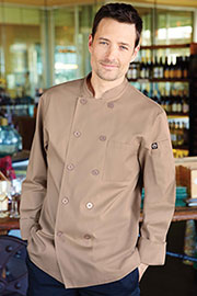 Cyprus Khaki Chef Coat - Chef Works Chef Coat & Chef Jacket Collection