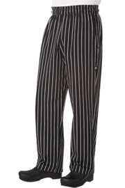 Designer Baggy Striped Chef pants - Chef Works Designer Baggy Pant Collection