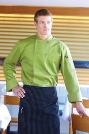 Genova Lime Basic Chef Coat - Chef Works Chef Coat & Chef Jacket Collection