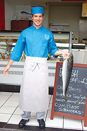 Long Four Way White Chef Aprons - Chef Works Chef Aprons Collection