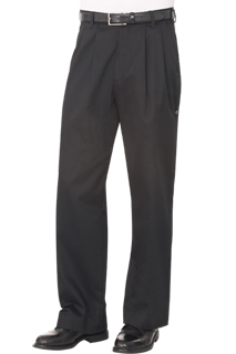 Essential Chef Pants: Black - side view