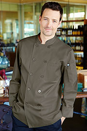 Perugia Olive Chef Coat - Chef Works Chef Coat & Chef Jacket Collection
