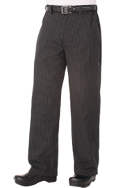 Professional Series Mens Grey Striped Chef Pants - Chef Works Professional Series Mens Chef Pants Collection
