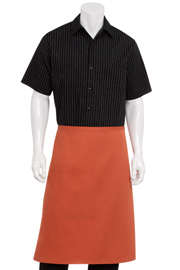 Short Rust Aprons - Chef Works Chef Aprons Collection