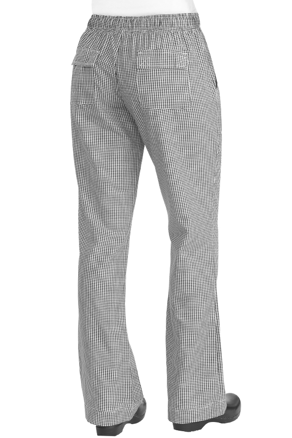 318fd451ed7 Womens Chef Pants  Small Check - back view ...