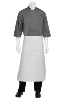 Tapered Apron: White - side view