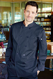 Torino Navy Blue Chef Coat - Chef Works Chef Coat & Chef Jacket Collection