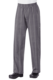 UltraLux Better Built Baggy Mens Plaid Gray Chef Pants - Chef Works UltraLux Chef Pants Collection