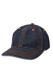 Denim Baseball Cap - side view